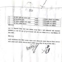 गाउँकार्यपालिकाको बैठक, माघ ७ २०७५ को निर्णय